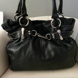 B. Makowsky Belted Leather Tote Bag